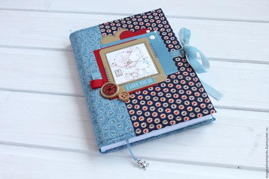 Фотоальбомы ручной работы. Ярмарка Мастеров - ручная работа. Купить Мамин дневник (0-7 лет). Handmade. Синий