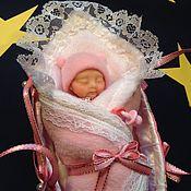 Куклы и игрушки ручной работы. Ярмарка Мастеров - ручная работа Малышка в люльке. Handmade.