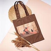 "Сумки и аксессуары handmade. Livemaster - original item Reusable shopping bag ""Bears in the forest"". Handmade."