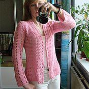 Одежда ручной работы. Ярмарка Мастеров - ручная работа Кардиган Розовая фиалка. Handmade.