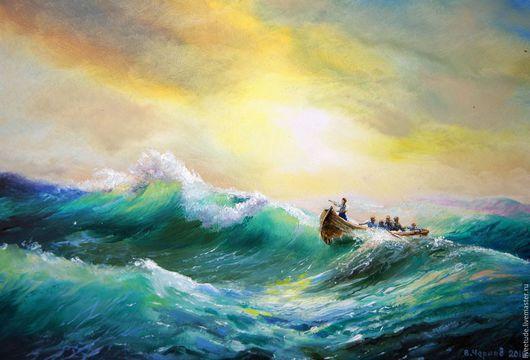картина маслом,картина маслом в подарок,картина для интерьера,картина на оргалите,картина пейзаж,пейзаж,живопись маслом,картина в подарок,картина маслом на холсте,живопись,море,морской пейзаж