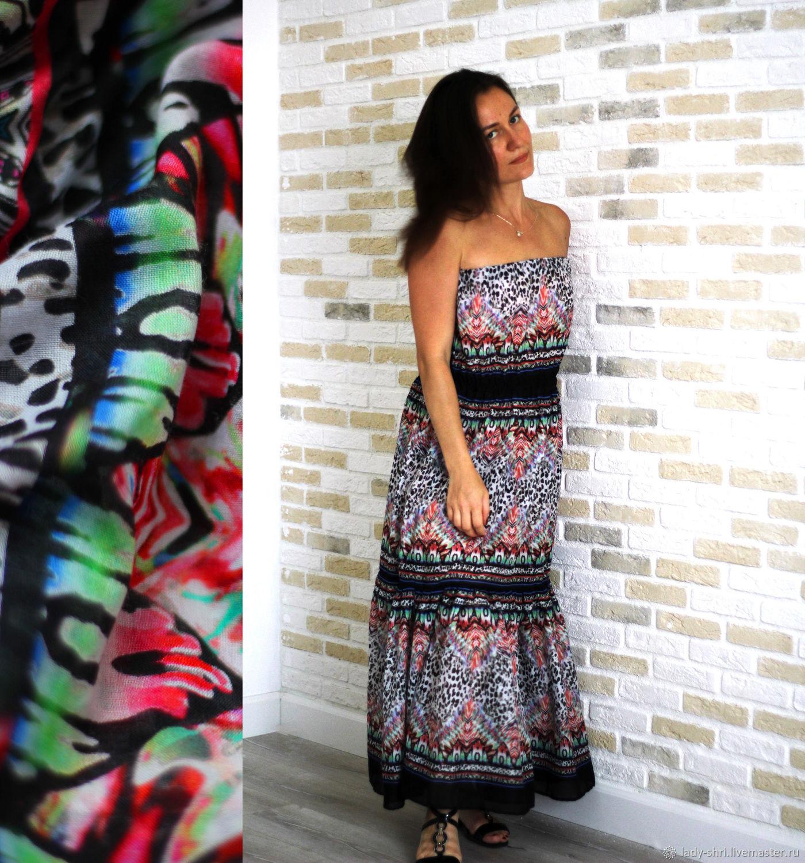 1400877ab50 пляжный сарафан в пол из батиста сарафан воланами в пол платье в пол  пляжное батист итальянский ...
