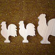 Материалы для творчества ручной работы. Ярмарка Мастеров - ручная работа Петушки деревянные. Handmade.