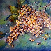 handmade. Livemaster - original item Grapes painting Bunch of grapes Still life oil painting fruit. Handmade.