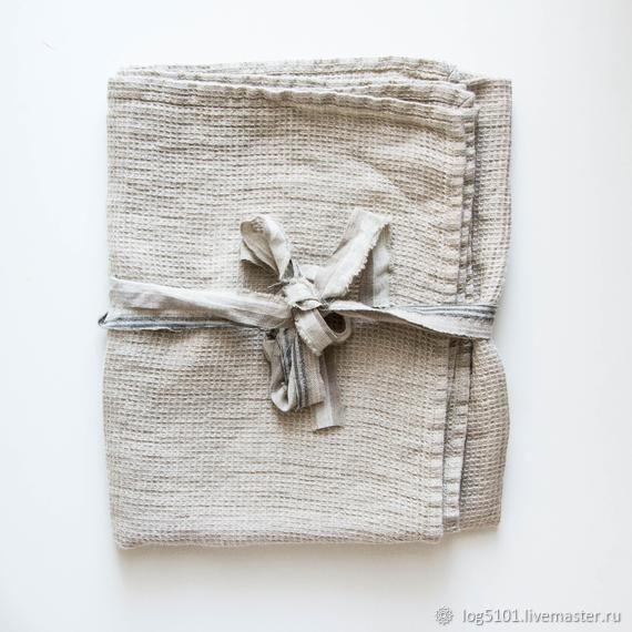 BATH AND SPA LINEN TOWEL / LINEN WAFFLE TOWEL, Towels, Moscow,  Фото №1