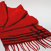 """Шарфы ручной работы. Ярмарка Мастеров - ручная работа Валяный  шарф """"Уютный Лондон"""". Handmade."""