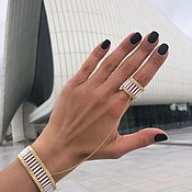Украшения handmade. Livemaster - original item Bracelet ring MUDRA COLUMN White. Handmade.