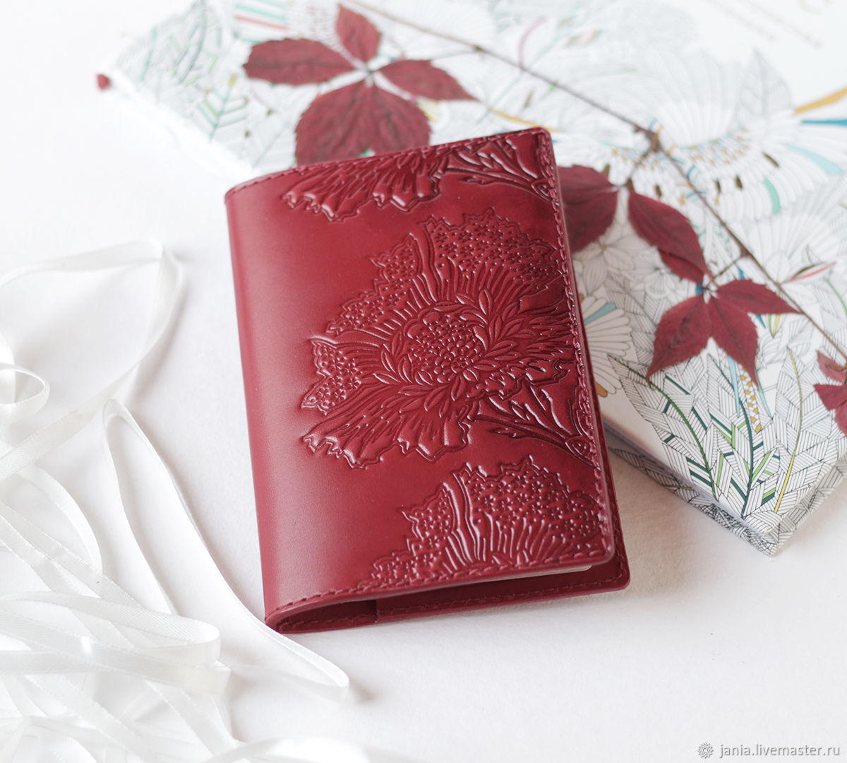 de5f3c678448 Red Berry Leather Passport Cover, Personalized Passport Wallet – shop  online on Livemaster with shipping - FIBWLCOM | Ivanovo
