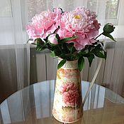 Цветы и флористика handmade. Livemaster - original item Bouquet of peonies in a Provence style. Handmade.