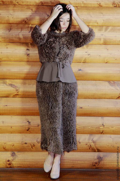 """Верхняя одежда ручной работы. Ярмарка Мастеров - ручная работа. Купить Пальто длинное легкое """"Легкий Барашек"""". Handmade. Серый"""