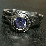 Кольцо с танзанитом (кольцо пазл)
