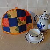 """Грелки на чайник ручной работы. Ярмарка Мастеров - ручная работа Грелка на чайник """"Шахматка с розой"""". Handmade."""
