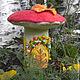 сказочный домик, светильник для детской, войлочный светильник, грибы, гриб. подарок девушке, подарок девочке,