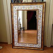 Для дома и интерьера handmade. Livemaster - original item Painted mirror the Mirror in the bathroom. Handmade.
