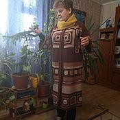Одежда handmade. Livemaster - original item Knitted coat Chocolate. Handmade.