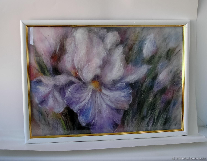 Картина из шерсти Ирисы, Картины, Энгельс,  Фото №1