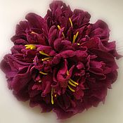 Украшения handmade. Livemaster - original item flowers suede. Peony suede