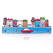"""Для дома и интерьера ручной работы. Ярмарка Мастеров - ручная работа Морская композиция """"Городок у моря"""" driftwood. Handmade."""