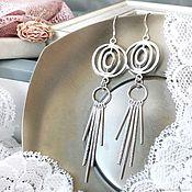 Украшения handmade. Livemaster - original item Sphere earrings large long, prominent, silver gift girl. Handmade.