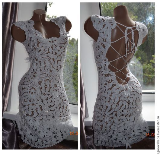 Платья ручной работы. Ярмарка Мастеров - ручная работа. Купить платье крючком - белая Орхидея. Handmade. Платье, платье крючком