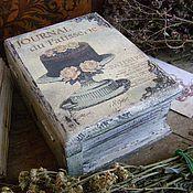 """Для дома и интерьера ручной работы. Ярмарка Мастеров - ручная работа Шкатулка -книга """"Journal de patisserie"""". Handmade."""