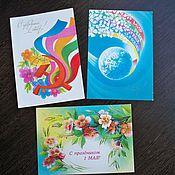 Винтаж ручной работы. Ярмарка Мастеров - ручная работа Советские открытки (4). Handmade.