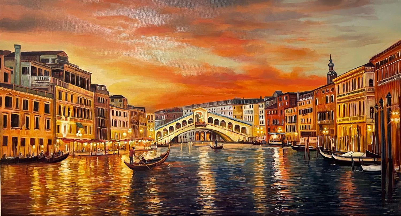 Закат в Венеции, Картины, Ереван,  Фото №1