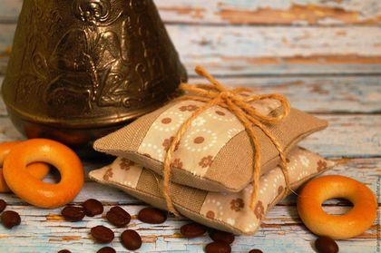 `Доброе утро`. Комплект саше с кофейными зёрнами. Ароматные кофейные саше.