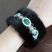 Украшения handmade. Livemaster - original item Bracelet made of mink fur, fur bracelet, black bracelet. Handmade.