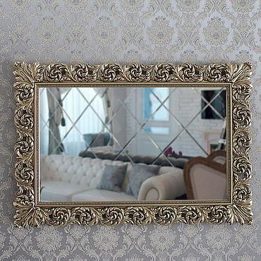 Для дома и интерьера ручной работы. Ярмарка Мастеров - ручная работа Настенное зеркало в золотой раме.. Handmade.