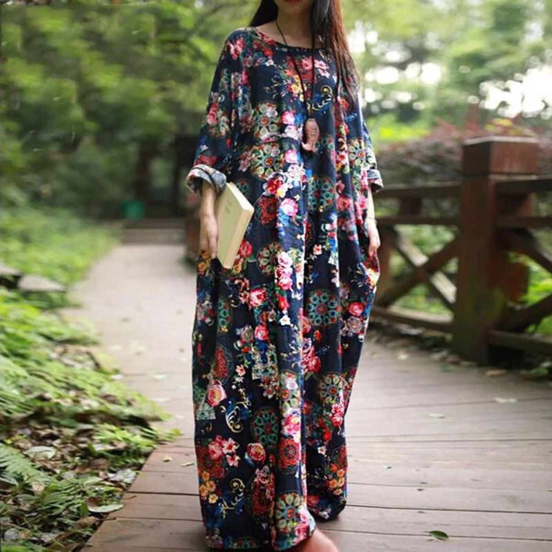 Летнее длинное платье с цветочным принтом, Платья, Москва,  Фото №1
