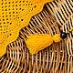 Шарфы и шарфики ручной работы. Заказать шарф вязаный Бактус Солнечный. Виноградная Овечка (GrapeLamb). Ярмарка Мастеров. Шарф