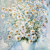 Картины и панно handmade. Livemaster - original item Watercolor painting Chamomile morning. Handmade.