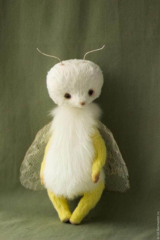 Мишки Тедди ручной работы. Ярмарка Мастеров - ручная работа. Купить Мотылек. Handmade. Белый, тедди, нежность, искусственный мех
