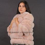 Одежда ручной работы. Ярмарка Мастеров - ручная работа Шуба из песца 60 см цвет фламинго. Handmade.