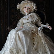 Куклы и игрушки ручной работы. Ярмарка Мастеров - ручная работа Муза. Шарнирная кукла из фарфора. Handmade.