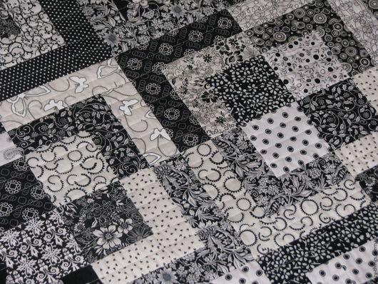 """Текстиль, ковры ручной работы. Ярмарка Мастеров - ручная работа. Купить Покрывало """"Монохром"""". Handmade. Чёрно-белый, ручная работа"""