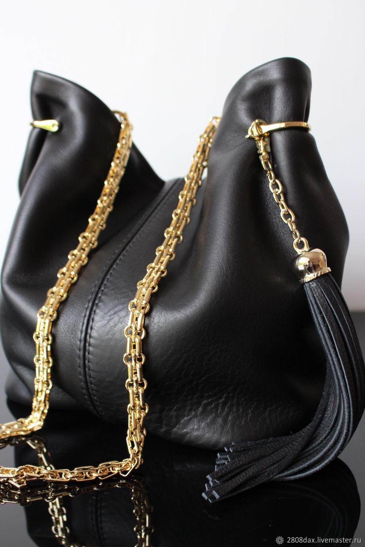 Granville Black Leather Handbag Pony Olga Sluxurycreation