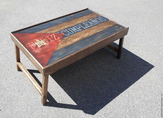 """Мебель ручной работы. Ярмарка Мастеров - ручная работа. Купить Столик для завтрака """"Feliz Cumpleanos"""". Handmade. Столик для завтрака"""