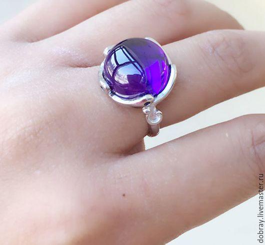 Кольца ручной работы. Ярмарка Мастеров - ручная работа. Купить Кольцо с природным кристаллом.. Handmade. Кольцо, серебро, природный кристалл