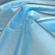 Материалы для творчества handmade. Livemaster - original item Genuine leather Blue metallic 0,8 mm. Handmade.