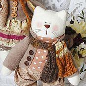 Куклы и игрушки ручной работы. Ярмарка Мастеров - ручная работа Пара кошек в стиле Винтаж. Handmade.
