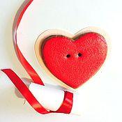 Подарки к праздникам ручной работы. Ярмарка Мастеров - ручная работа Пряник сердце. Handmade.