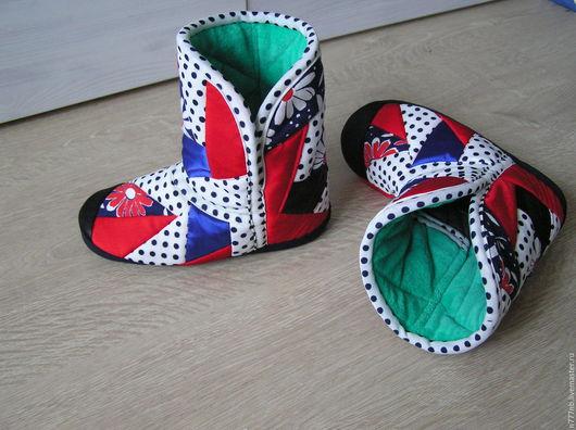 Обувь ручной работы. Ярмарка Мастеров - ручная работа. Купить Угги р.38 домашние лоскутные №154. Handmade. Угги