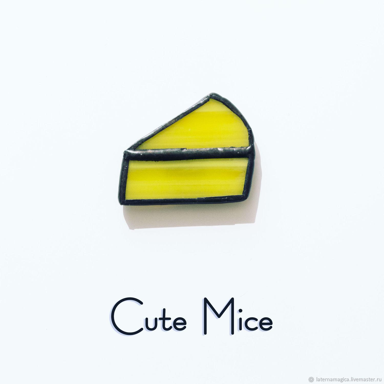 Магниты на холодильник из стекла Милые Мышата Cute Mice Сыр #008, Магниты, Новосибирск,  Фото №1