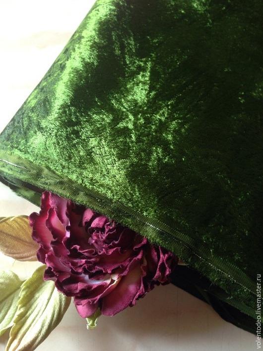 Другие виды рукоделия ручной работы. Ярмарка Мастеров - ручная работа. Купить Ткань для цветоделия- сирулонг( темно- зеленый). Handmade.