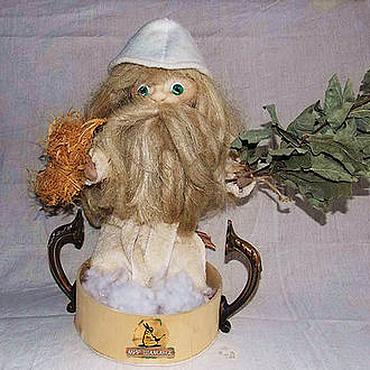 Фен-шуй и эзотерика ручной работы. Ярмарка Мастеров - ручная работа Дух Бани кукла банщик оберег. Handmade.