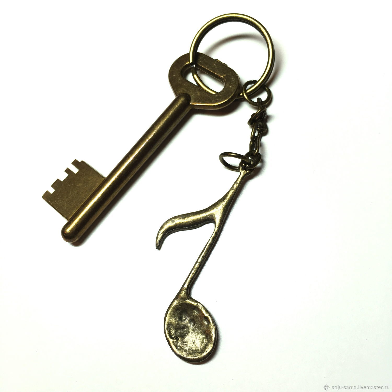 Брелок для ключей Нота, брелок для сумки