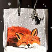 """Сумки и аксессуары ручной работы. Ярмарка Мастеров - ручная работа Сумка шоппер """"Winter Fox"""". Handmade."""