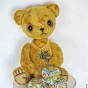 Куклы и игрушки ручной работы. Ярмарка Мастеров - ручная работа Мишка тедди-мини-11см. Листик.. Handmade.